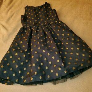 Other - Dress Black Gold Polka Dot